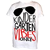 Unique Baby Boys Kindergarten Vibes Only Back to School Shirt (5t, White)