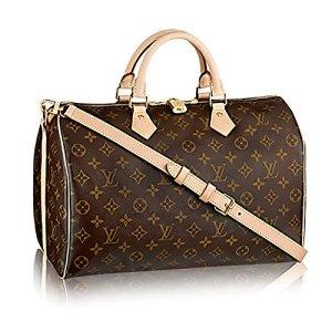 Louis Vuitton Monogram Cross Body Handles Handbag Canvas Speedy Bandouliere 35 Article: M41111 20