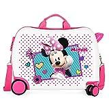 Disney Enjoy Minnie Icon Maleta Infantil Rosa 50x38x20 cms Rígida ABS Cierre combinación 34L 2,3Kgs 4 Ruedas Equipaje de Mano