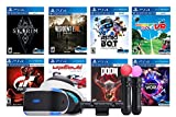 Playstation VR 8 Must-Play AAA Games Deluxe Bundle: PSVR Headset with Motion Controllers, Skyrim VR,...