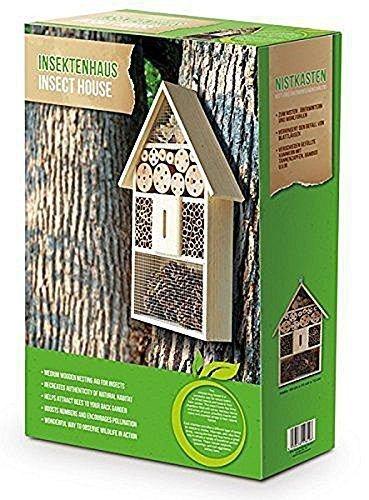Eifa XXL 50 cm Insektenhotel Natur/Nistkasten Insektenhaus aus Holz für Bienen, Schmetterlinge, Käfer & andere Tiere