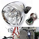 Vintage Retro Bicycle Bike Front Light Lamp 7 LED Fixie Headlight with Bracket