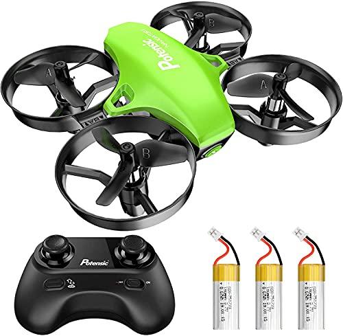 Potensic Mini Drone A20 con 3 Batterie per Bambini e Principianti Quadricottero RC Drone Giocattolo Economico modalit Senza Testa con Telecomando Avvio e Atterraggio con Un Pulsante, Verde