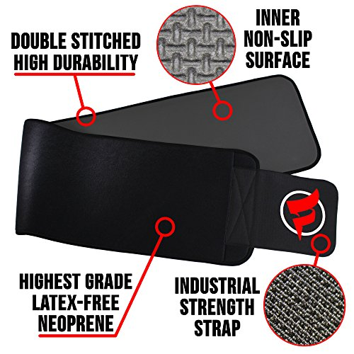 "Fitru Waist Trimmer Sauna Ab Belt for Men & Women - Waist Trainer Stomach Wrap (Black, 10"" X 50"") 8"