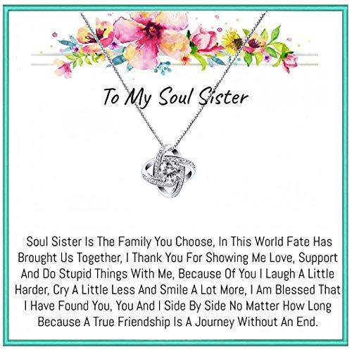 OnePurposeGifts Soul Sister Best Friend Gift set, Best friend jewelry, Soul Sister gifts, Best friend Gifts, Best Friend birthday, Best Friend Gift (New Zirconia)