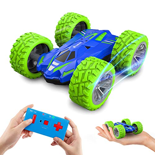EACHINE Mini RC Car for Kids and Adults, EC07 Micro RC Cars Double-Sided Fast Off Road Stunt Race 360° Rotating Small Remote Control Car RC Vehicle Toys for Boys and Girls 4-7 Birthday Gift