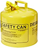 Eagle UI-50-SY Type I Metal Safety Can, Diesel, 12-1/2' Width x 13-1/2' Depth, 5 Gallon Capacity, Yellow