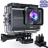 Crosstour CT9500 Nativo 4K50FPS EIS Action Cam 20MP WiFi 40M Impermeabile Fotocamera Subacquea accessori completi