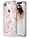 Hepix Floral iPhone XR Case Plum Blossom Flowers Xr Cases, Clear Protective XR Phone Cover Cases, Slim Flexible TPU Frame with Reinforced Bumpers