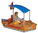 KidKraft- Arenero de madera para niños, diseño de galeón pirata, para jardín y exteriores ,...