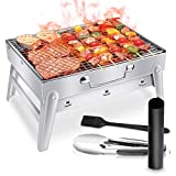 WOSTOO Barbecue Charbon de Bois, Portable BBQ Grill Barbecue Table en Acier...