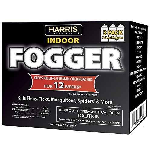 HARRIS 12 Week Indoor Insect Fogger, 3 Pack, for...