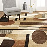 Home Dynamix Tribeca Jasmine Modern Area Rug, Abstract Brown/Beige 39'x55'