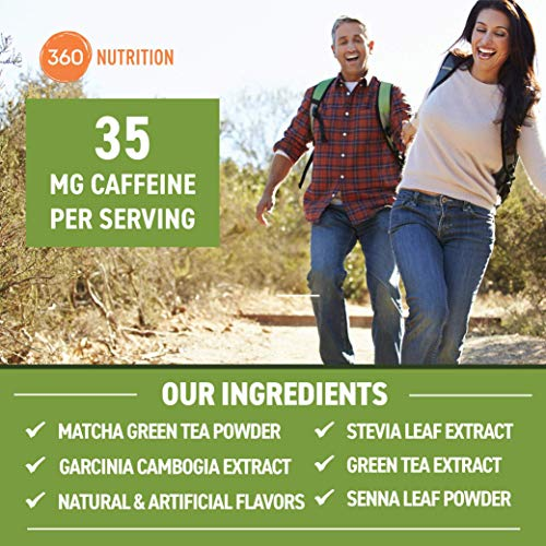 360 Nutrition Green Tea Detox Cleanse | 15 Servings | Weight Loss, Senna Leaf and Garcinia Cambogia Powder 4