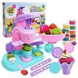 Sunywear Kids Ice Cream Maker DIY Puzzle Color Clay Set Children Puzzle Toys Kitchen Playsets
