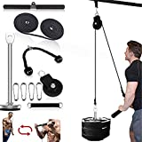 Fitness LAT and Lift Pulley System Professional Pulley Cable Machine Muscle Strength Fitness Equipment for Biceps Curl, Triceps Extensions Workout (Max Load 220lbs)