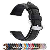 Fullmosa 14mm 16mm 18mm 19mm 20mm 22mm 24mm Bracelet Montre en Cuir Véritable,...