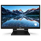 Philips 242B9T 24' Touch Screen Monitor, Full HD IPS, 10-Point capacitive Touch, USB 3.1 hub, Speakers, IP54 dust and Water Resistant, Win10/Android Compatible, 4Yr Advance Replacement Warranty