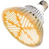 MILYN 100W Bombilla LED para Cultivo Espectro Completo Lmpara LED Plantas Crecimiento Interior E27 Luces Led Cultivo 150 LED Grow Light para Interior Plantas Hidroponia Crecimiento y Floracion