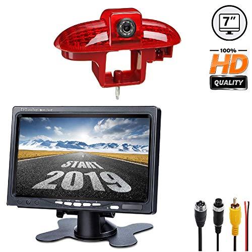 HD 720p Telecamera per la Retromarcia Retrocamera + Monitor 7.0 pollici per Renault Trafic Opel Vivaro FIAT Talento Nissan Primastar (2001-2014),Telecamera Posteriore Impermeabile Visione Notturna