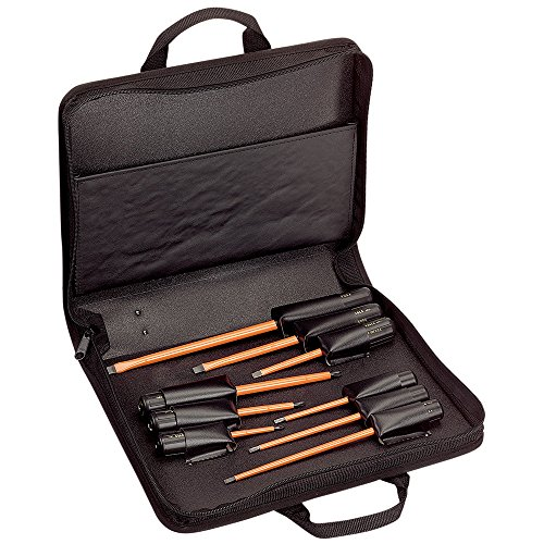 Klein Tools 33528 Insulated Screwdriver Kit with Carrying Case, 1000 V,...