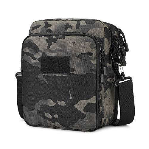 Huntvp Taktische UmhängetascheMilitär Schultertasche Wasserdicht Messenger Bag Molle Zubehör Tasche für Herren Arbeit Business Outdoor, Camouflage