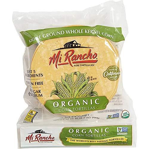 Mi Rancho Organic Yellow Corn Tortilla, 30 ct OU Kosher Certified NON GMO Verified (1)