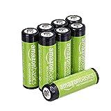 AmazonBasics Piles rechargeables AA, pré-chargées - Lot de 8 (le visuel...