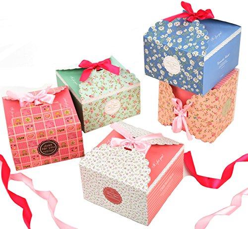 Cajas Galletas,Fashionbabies Cajas de regalo, conjunto de 15 cajas de convites decorativos para Navidad, acción de gracias, regalos de cumpleaños y fiesta (15 PCS)