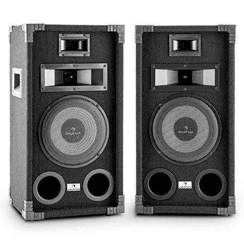 AUNA PA-800 Coppia di altoparlanti 2 casse audio passive (400W, woofer 20 cm, 3 vie, diffusori...