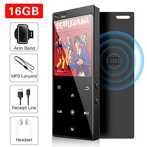 16 GB MP3-Player mit Bluetooth 4.2, Musik-Player Digital Audio Portable Lossless Sound Musik-Player mit FM-Radio / Bild / E-Book, Unterstützung erweiterbar bis zu 64 G, Kopfhörer inbegriffen