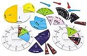 WISSNER aktiv lernen - Fraction Clock Zeitangaben und Bruchteile