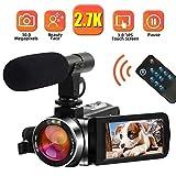 Camescope Caméscope Caméra vidéo 2.7K 30MP Camescope Numerique Full HD...