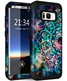 Hocase Galaxy S8 SM-G950 Case, Heavy Duty Protection Shock Absorbing Silicone Rubber Bumper+Hard Plastic Shell Hybrid Dual Layer Protective Case for Samsung Galaxy S8 5.8' 2017 - Mandala in Galaxy