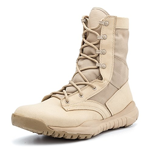 IODSON Mens' Ultra-Light Combat Boots Military Tactical Work Boots