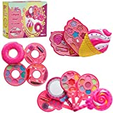 DRESS 2 PLAY Pretend Play Makeup Playset for Girls Sweet Pink 3 in 1 Set- Lollipop, Ice Cream and Donut