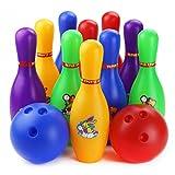 おもちゃ ボーリング HAOUN スポーツトイ ボウリング セット 知育玩具 10ピン 2ボール