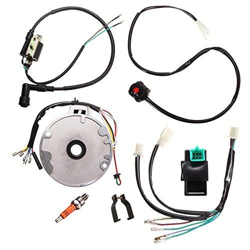 Alamor Moto Universal Dirt Pit Bike Cdi Spark Plug Interruttore Magneto Kit Cablaggio 50-125Cc