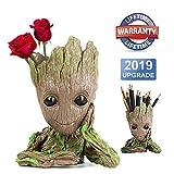 Homened Baby Groot Maceta, Groot Flower Pot Guardianes de la Galaxia Figura Groot Maceta y Caja de Lpices Plumas para Nia Nios Juguete