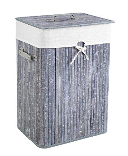 Home4You Wäschetonne Wäschesammler Wäschebox | Grau | 40x60x30 cm