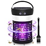Hwallkare Bug Zapper Mosquito Zappers Killer, Solar Powered Electric Fly Zapper Light with Camping Lantern, Waterproof USB Rechargeable Fly Killer for Indoor Outdoor
