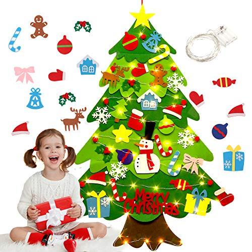 Fieltro Árbol de Navidad,justdolife Árbol de Navidad DIY c