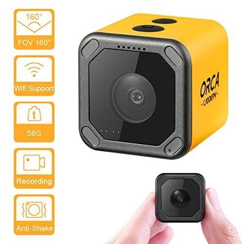 Caddx ORCA Mini Camera 4K HD Video Recording Action Cam WiFi 1080P 160 Degree M12 7G Lens Mini Nanny Camera Hidden Cam for FPV Racing Sport