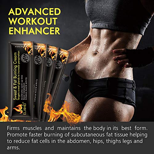 Hot Sweat Cream(10 pack), Extreme Cellulite Slimming & Firming Cream, Body Fat Burning Massage Gel Weight Losing, Treatment for Shaping Waist, Abdomen and Buttocks 7
