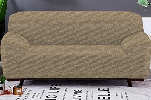 Copridivano abbraccio elasticizzato 1 Posti/2 Posti/3 Posti/4 Posti protettore del divano - fodera per divano (Biscotto, 4 Posti)