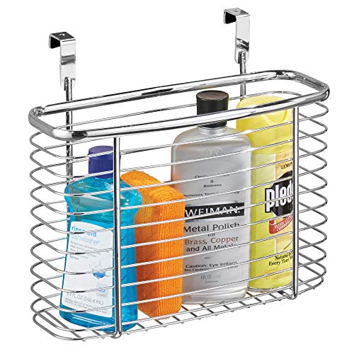 iDesign Axis Metal Over the Cabinet Storage Organizer, Waste...