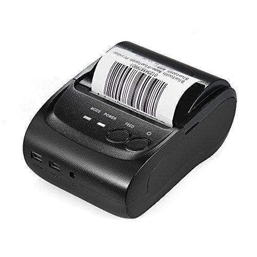 KKmoon Stampante termica Biglietto con ricevuta POS Stampa Mini Stampante termica USB portatile con...