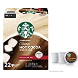 Starbucks Classic Hot Cocoa Single Serve Pods for Keurig Brewers, 22 total K-Cup Pods In Box