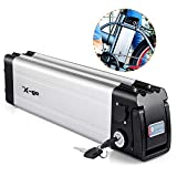 X-go Ebike Battery 36V 10Ah Lithium Li-ion Battery E-Bike Discharge Electric Bicycles(Down Discharge) (36V Battery)