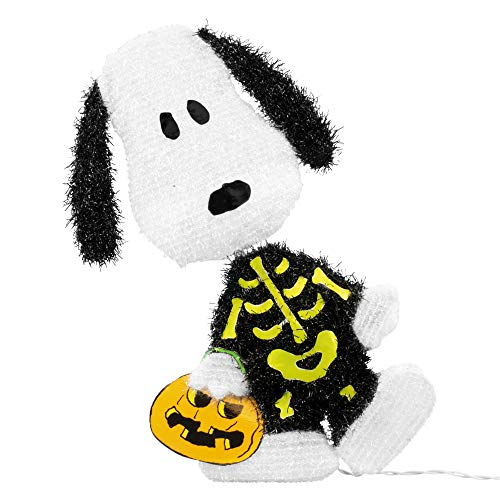 ProductWorks 36215_L2D Peanuts Snoopy Skeleton LED 2 Dimensional Halloween Yard